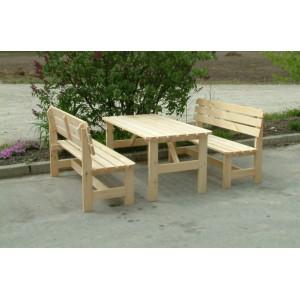 Zahradní sedací souprava 1,5 m - přírodní